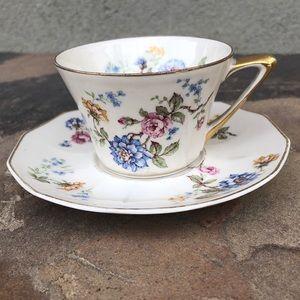 Haviland Limoges vintage teacup and saucer set